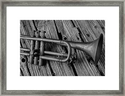 Old Trumpet Close Up Framed Print
