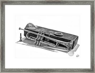 Framed Print featuring the photograph Old Trumpet by Walt Foegelle