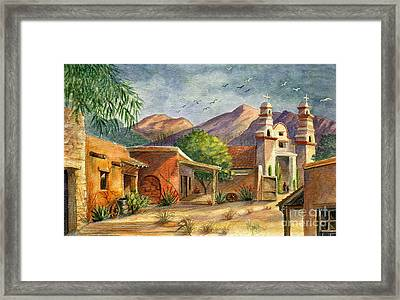 Old Tucson Framed Print by Marilyn Smith