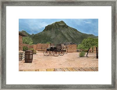 Old Tucson Framed Print