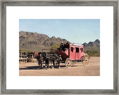 Old Tucson Stage Framed Print