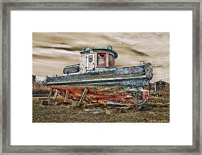 Old Tug Framed Print by Steve Zimic