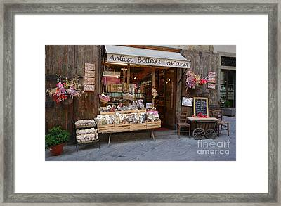Old Tuscan Deli Framed Print