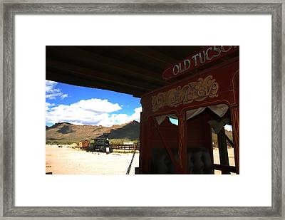Old Tuscon Stage Coach And The Reno Framed Print by Susanne Van Hulst