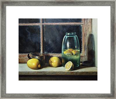 Old Tyme Lemonade Framed Print