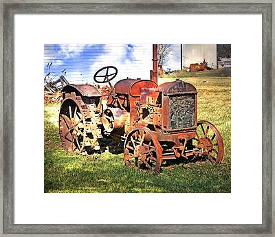 Old Tyme Tractor Framed Print