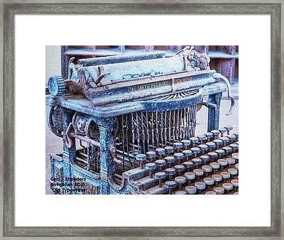 Old Typewriter H A Framed Print