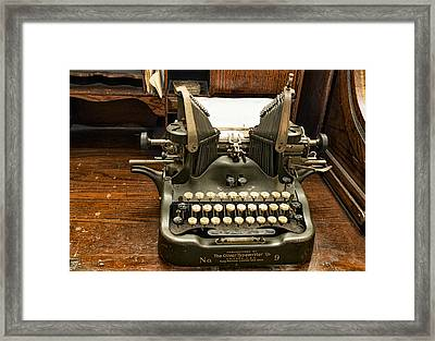 Old Typewriter Framed Print