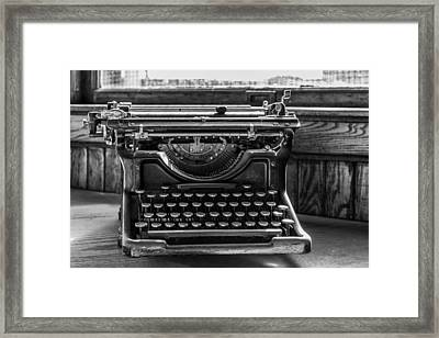 Old Typewriter Framed Print by Thomas Young