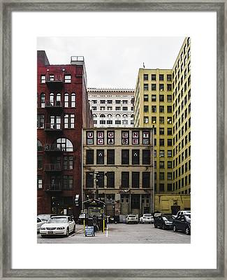 Old Urgent Care Building In Downtown Saint Louis Framed Print by Dylan Murphy