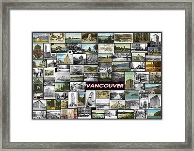 Old Vancouver Collage Framed Print by Janos Kovac