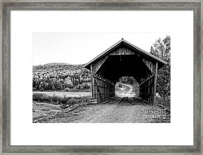 Old Vermont Covered Bridge Framed Print by Edward Fielding