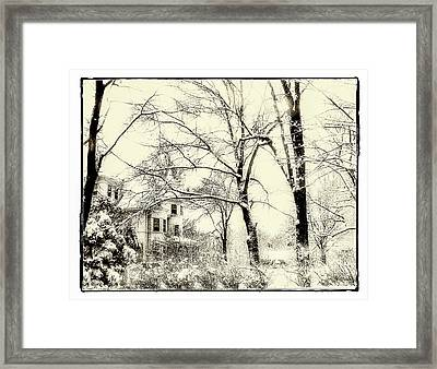 Old Victorian In Winter Framed Print by Julie Palencia