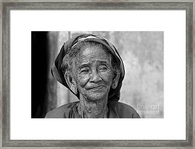 Old Vietnamese Woman Framed Print