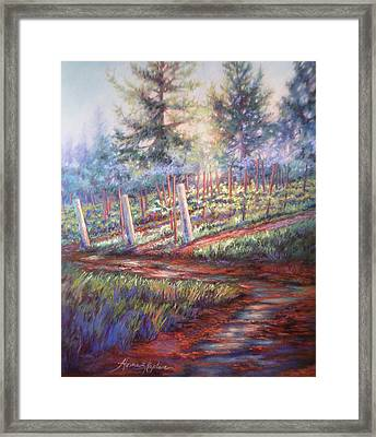 Old Vines And Fresh Rain Framed Print