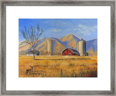 Old Vineyard Dairy Farm Framed Print by Jeff Brimley