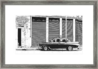 Old Vintage Car In Havana Framed Print