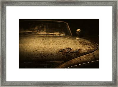 Old Vintage Plymouth Car Hood Framed Print