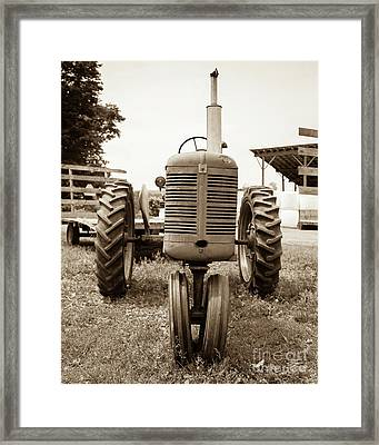 Old Vintage Tractor Cornish New Hampshire Framed Print