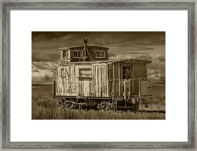 Old Vintage Train Caboose Framed Print