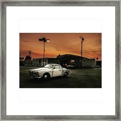 #old #vintage #vintagecar #sunset Framed Print