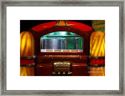 Old Vintage Wurlitzer Jukebox . 7d13100 Framed Print by Wingsdomain Art and Photography