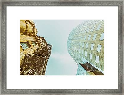 Old Vs New Architecture Framed Print by Radu Bercan