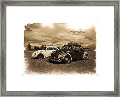 Old Vw Beetles Framed Print by Steve McKinzie