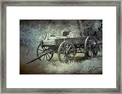 Old Wagon Framed Print by Christine Hauber