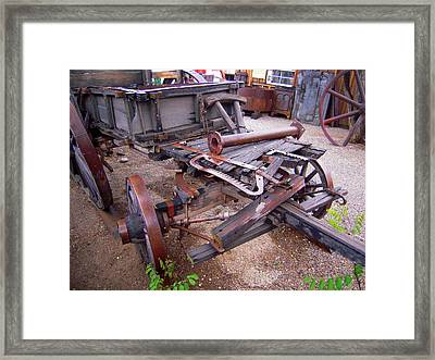 Framed Print featuring the photograph Old Wagon Full Of Faded Memories  by Don Struke