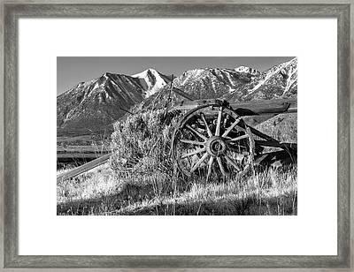 Old Wagon Near Jobs Peak Framed Print