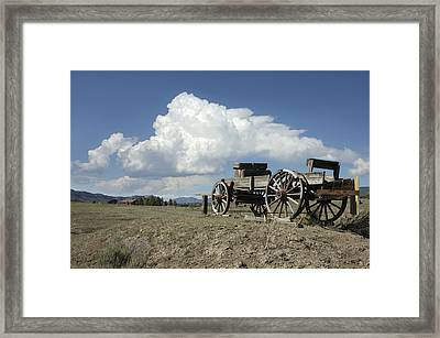Old Wagon Out West Framed Print by Jerry McElroy