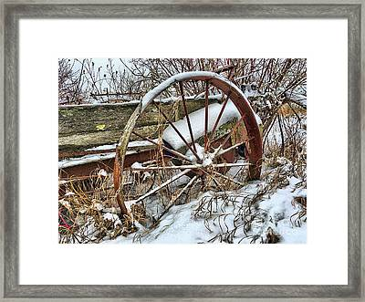 Old Wagon Wheel Framed Print by Anthony Djordjevic