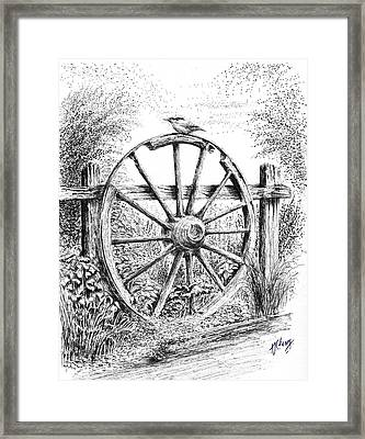 Old Wagon Wheel Framed Print