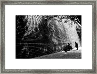 Old Wall Framed Print by Lian Wang