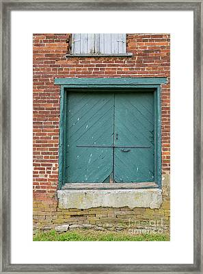 Old Warehouse Loading Door Framed Print