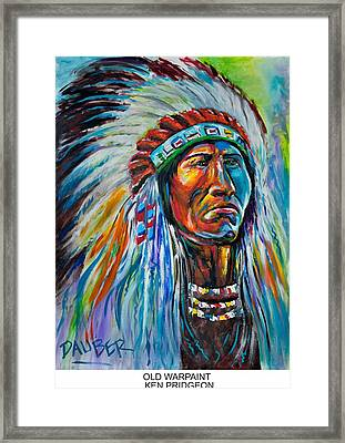 Old Warpaint Framed Print