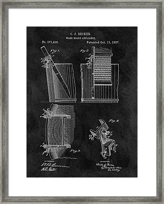 Old Washboard Patent Framed Print by Dan Sproul