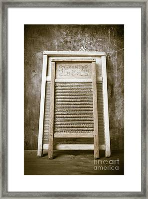 Old Washboards Framed Print by Edward Fielding