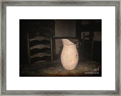 Old Water Pitcher Framed Print by Cindy Nearing