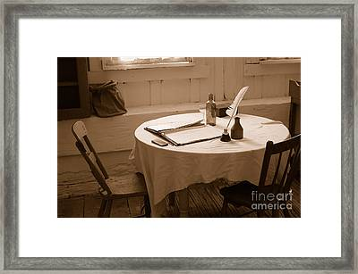 Old Way Of Life Series - Home Office Framed Print