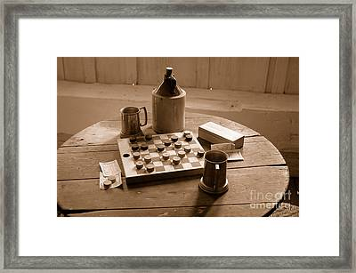 Old Way Of Life Series - Past Time Framed Print