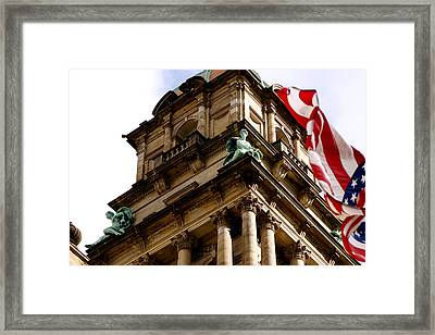 Old Wayne County Building Framed Print by Sonja Anderson