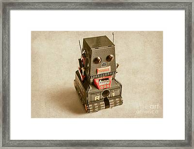 Old Weathered Ai Bot Framed Print