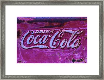 Old Weathered Coke Sign Framed Print by Garry Gay
