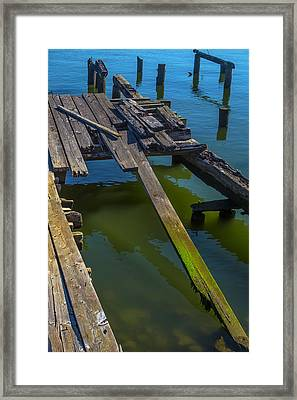 Old Weathered Dock Framed Print by Garry Gay
