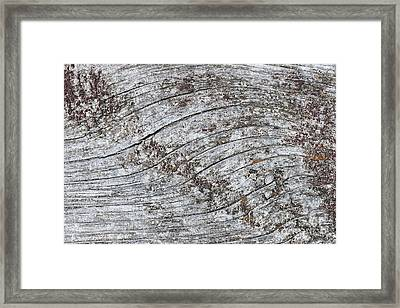 Old Weathered Wood Abstract Framed Print
