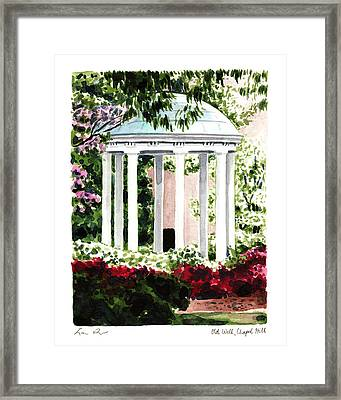 Old Well Chapel Hill Unc North Carolina Framed Print by Laura Row