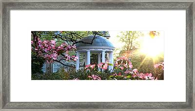 Old Well Dogwoods And Sunrise Framed Print