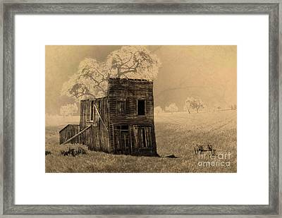Old West Building Framed Print by Ronald Hoggard